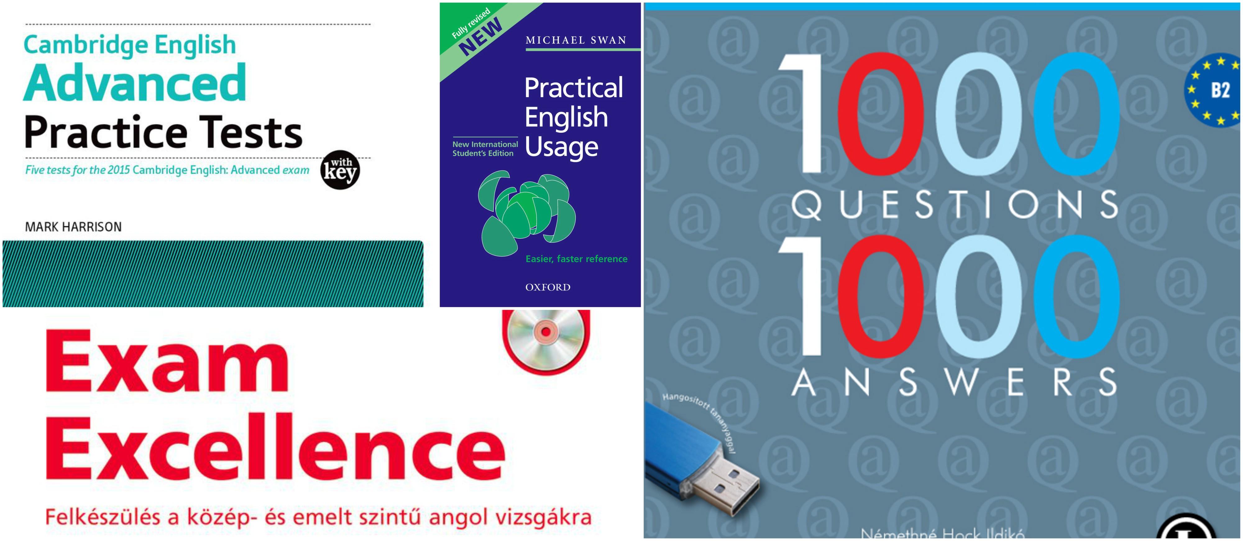 Kiadványok angol érettségihez és nyelvvizsgához.