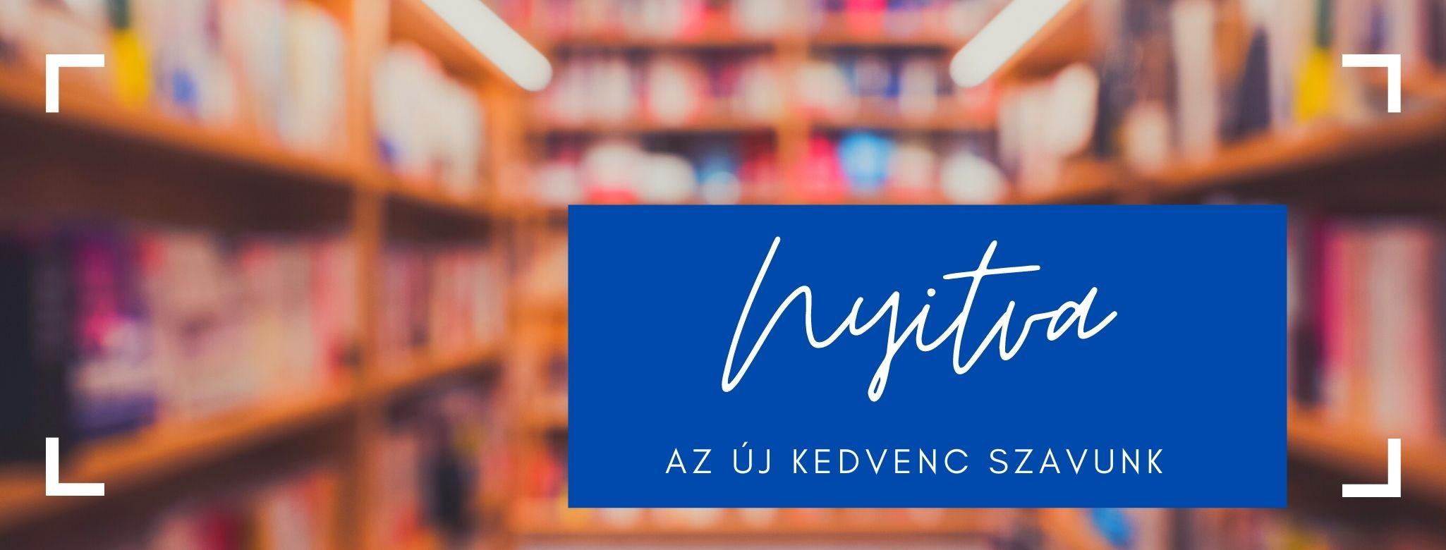Újra nyitva a könyvesbolt!
